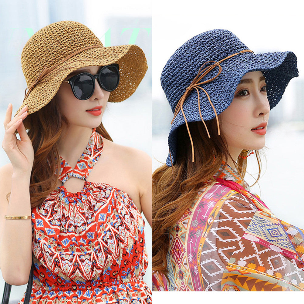 Foldable Handmade Straw Floppy Hat