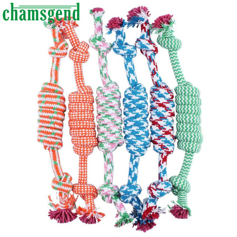 New Qualified Puppy Dog Pet Toy Cotton Braided Bone Rope Chew Knot New Random color Levert Dropship  Levert Dropship dig645