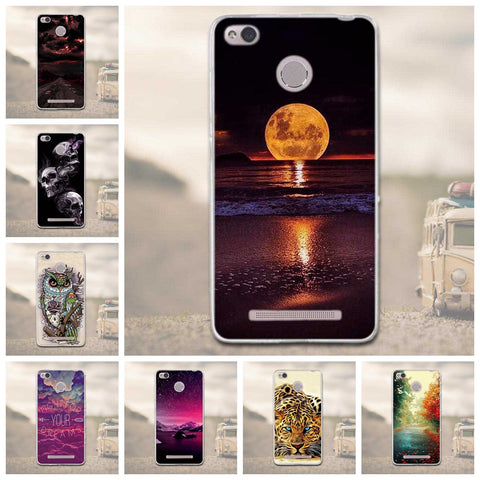 Case For Xiaomi Redmi 3 Pro 3s Redmi 3s Painting Phone Back Cover FOR Xiaomi Redmi 3 Pro Case Redmi 3S 3 S Pro Soft Silicon Case