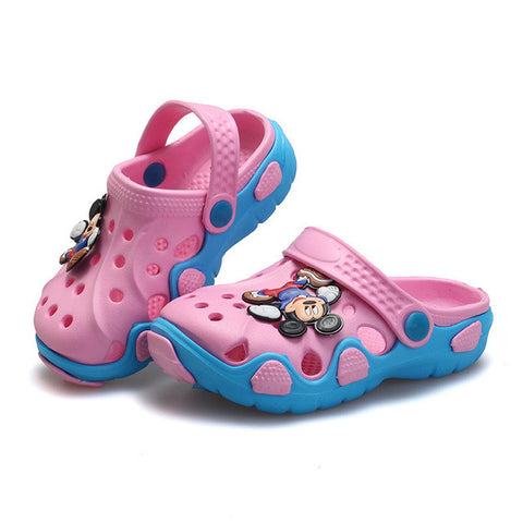 Children Sandals 2017 Summer Girl Pvc Shoes Child Sandals Boy Cute Cartoon Shoes Kids Slippers New Anti-Slip Girls Beach Sandals