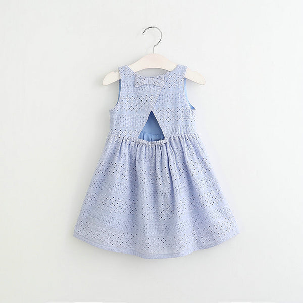 Toomine Summer Fashion Dresses For Girls 2017 Casual Baby Dress Princess Party Hollow Dresses Children Summer Clothes Frocks