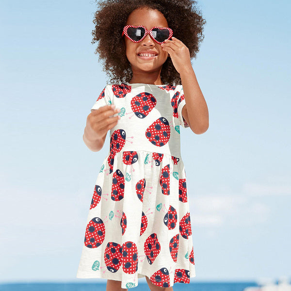 Girls Dresses, Summer, Short sleeves dress, Skirt dress