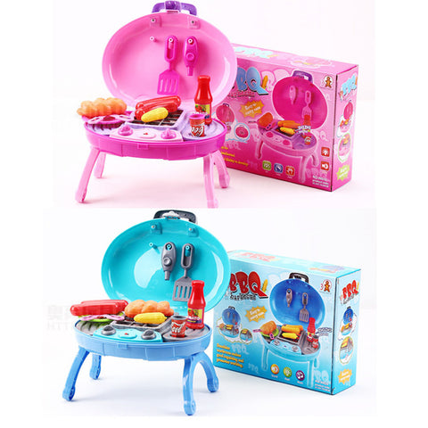 New Children Kid Simulation Kitchen Electric toy BBQ Grill/ barbecue with SOUND/LIGHT Child Play House baby Toys