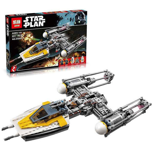 IN-STOCK Lepin 05065 691Pcs Genuine Star War Series The Y-wing Starfighter Set Building Blocks Bricks Educational Toys 75172