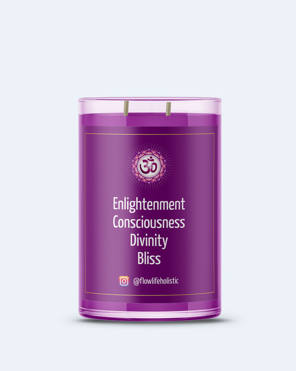 Crown Chakra Energy LARGE (9oz) 100% Soy Wax