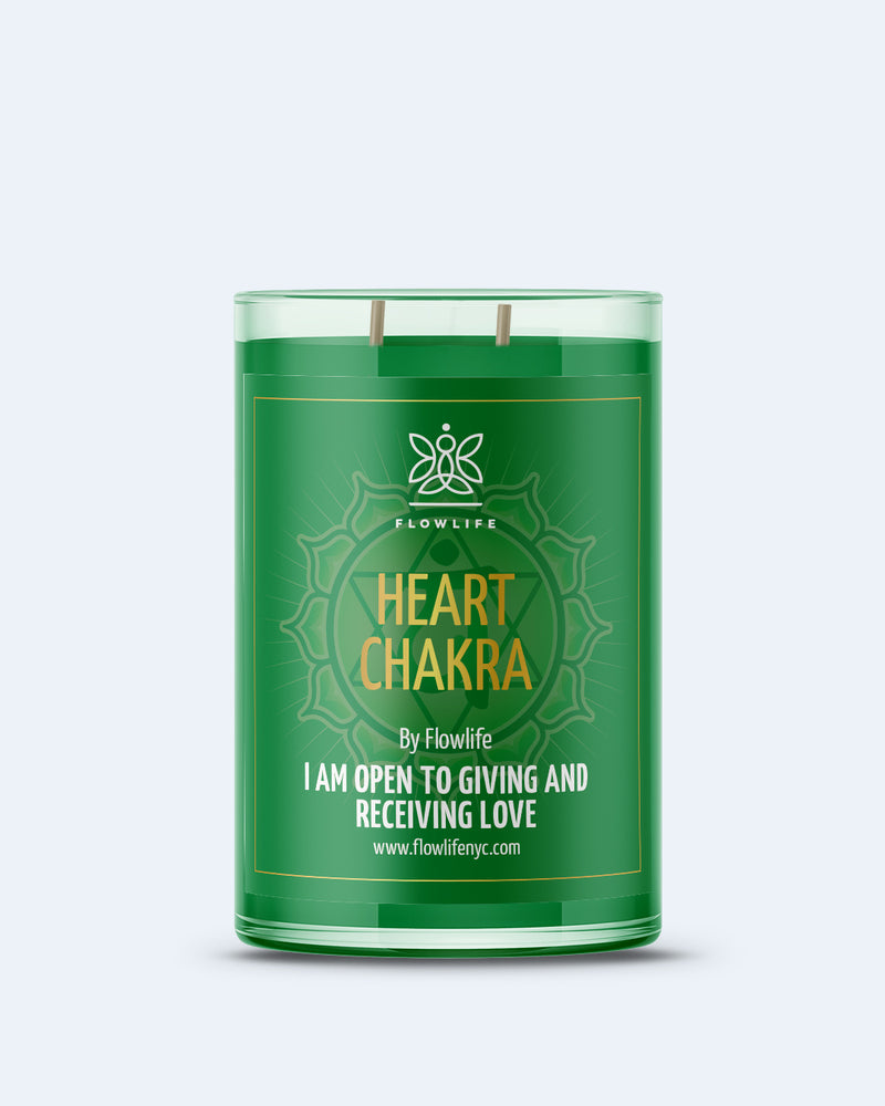 Heart Chakra Energy LARGE (9oz) 100% Soy Wax