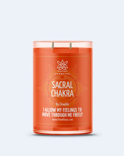 Sacral Chakra Energy LARGE (9oz) 100% Soy Wax