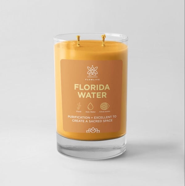 Florida Water Sacred Herb Energy Candle- 9 oz 100% soy wax