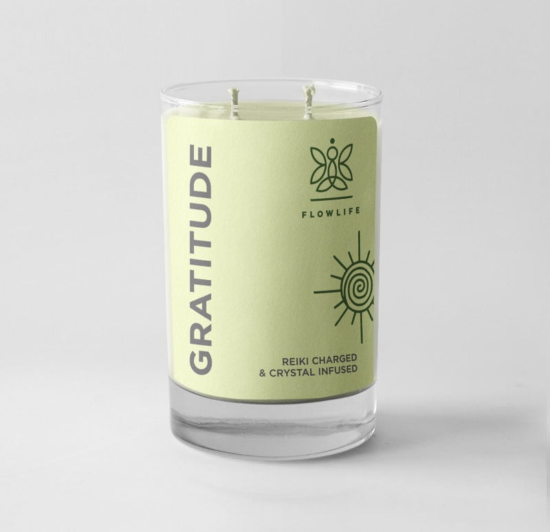 Gratitude Affirmation Candle - 9 oz 100% soy wax