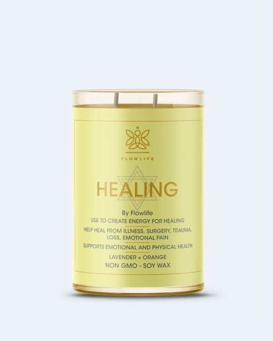 Flowlife Healing Candle - 9oz 100% Soy Wax