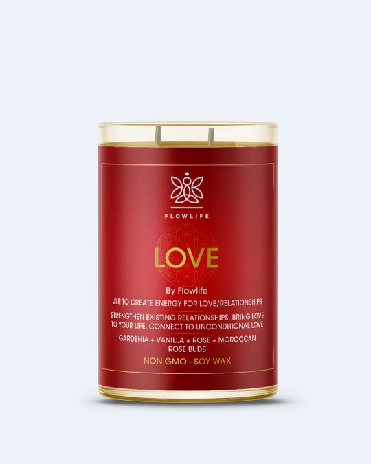 Flowlife Love Candle - 9oz 100% Soy Wax
