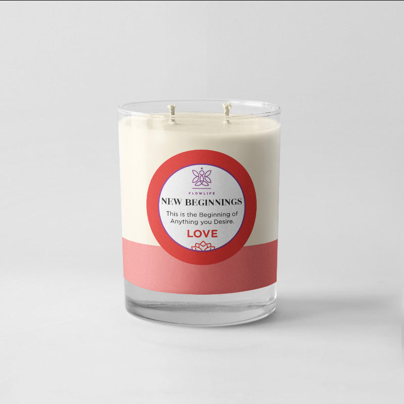 New Beginnings LOVE Candle - 8oz 100% soy wax