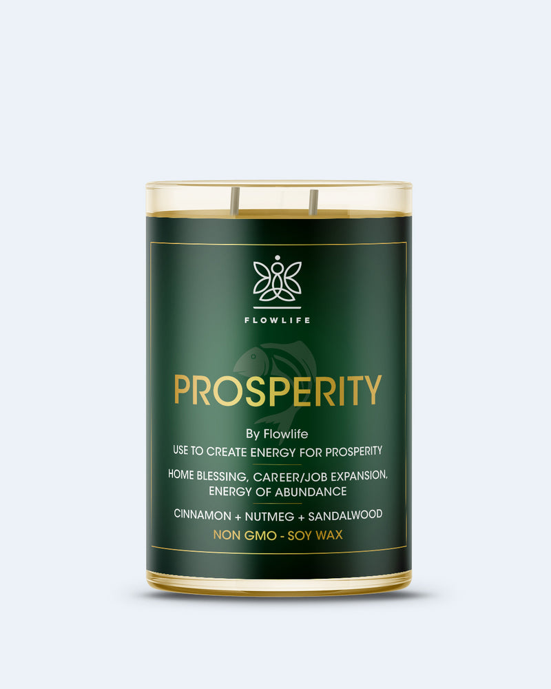 Flowlife Prosperity Candle - 9oz 100% Soy Wax