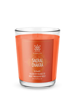 Sacral Chakra Energy Votive (2.2 oz) 100% Soy Wax