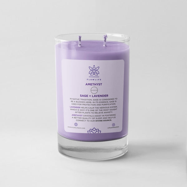 Sage & Lavender Sacred Herb Energy Candle- 9 oz 100% soy wax