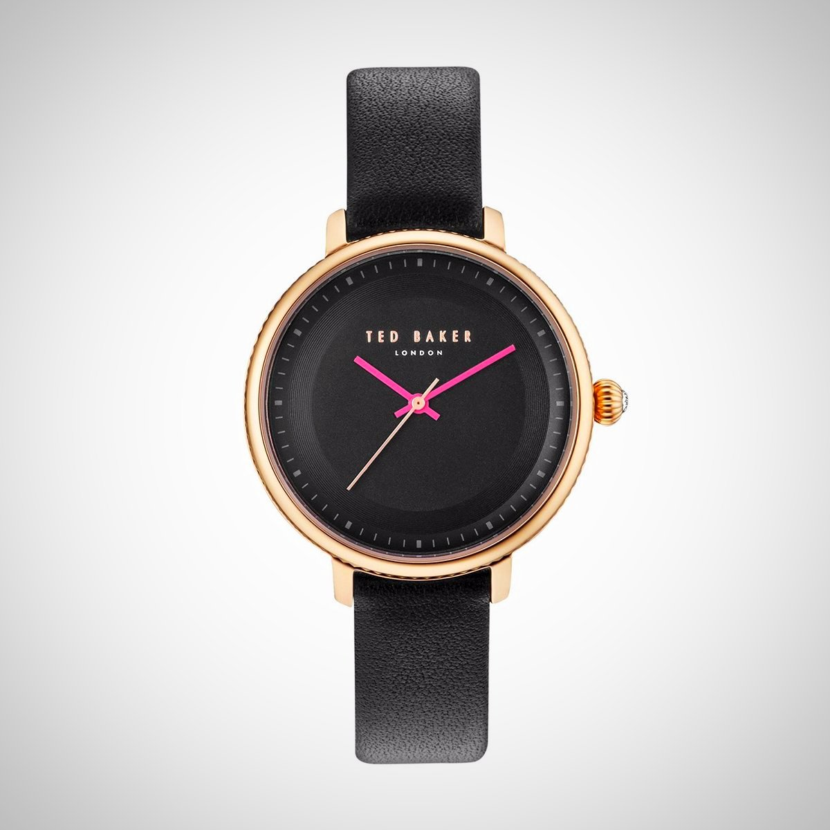 Ted Baker 10031531 Ladies Black Leather Strap Watch