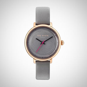 Ted Baker 10031534 Grey Leather Strap Ladies Watch