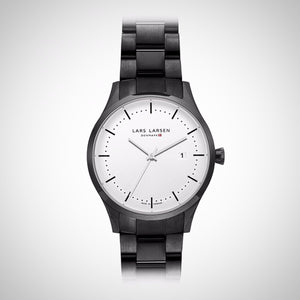 Lars Larsen 119CSBLB Men's Black Ion-plated Watch