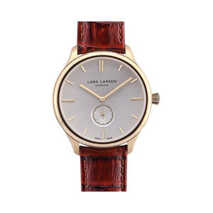 Lars Larsen 122GBCL Simon Men's Gold Watch