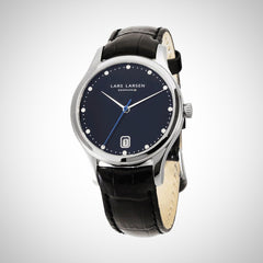 Lars Larsen 139SBLBL Clara Ladies Black Leather Watch