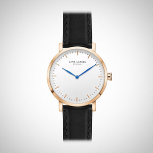 Lars Larsen 144RWBLL Ladies Rose-Gold Stainless Steel Case Watch