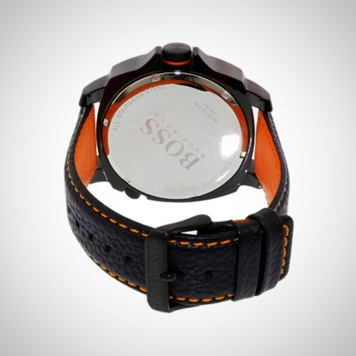 Hugo Boss Orange 1513221 Men's Black Leather Watch