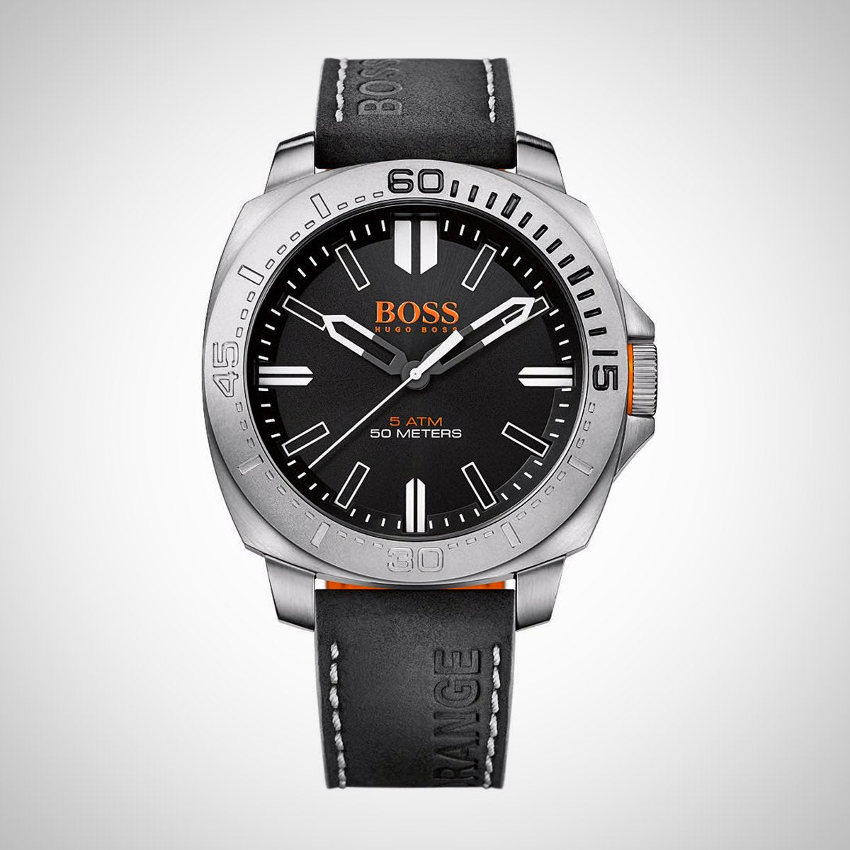 Hugo Boss Orange 1513295 Men's Stainless Case Black Dial Quartz Watch