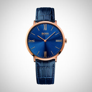 Hugo Boss 1513371 Men's Blue Leather Strap Watch