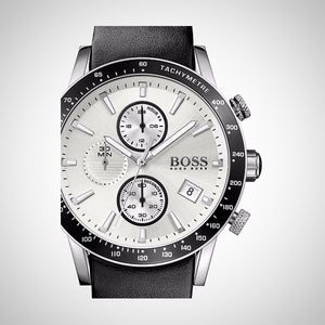 Hugo Boss 1513403 Black Leather Men's Watch