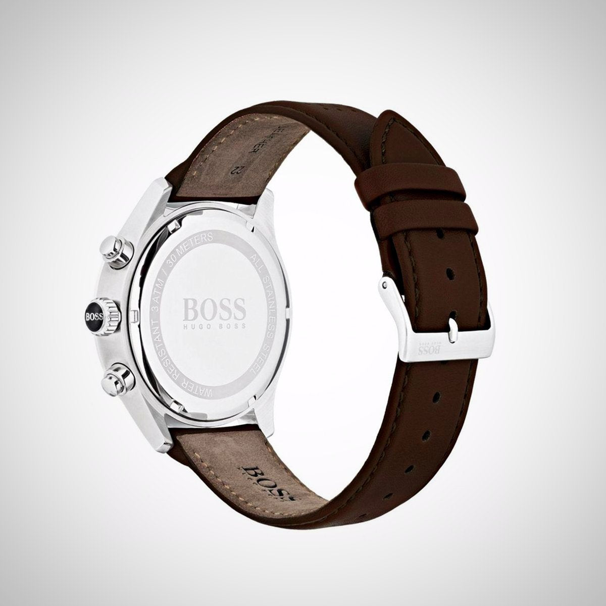 Hugo Boss 1513476 Men's Brown Leather Grand Prix Chrono Watch