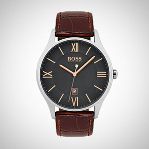 Hugo Boss 1513484 Men's Governor Brown Strap Watch