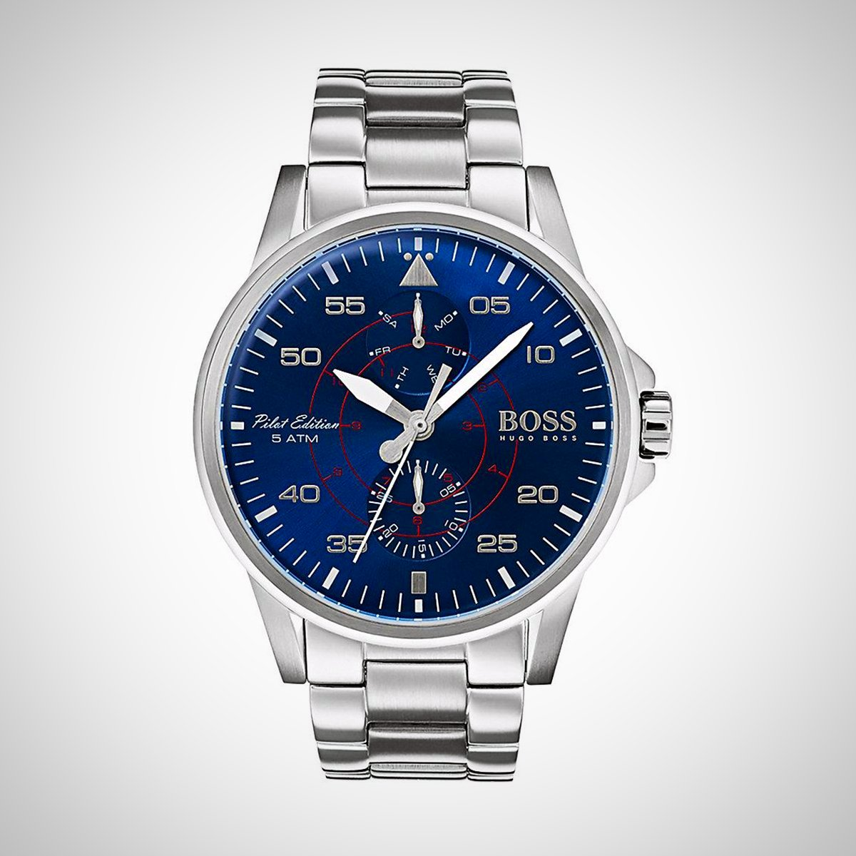 Hugo Boss 1513519 Stainless Steel and Blue Dial Quartz Watch
