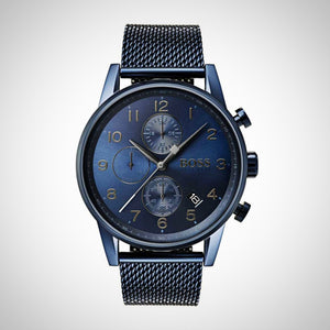 Hugo Boss Navigator 1513538 Blue Stainless Steel Men's Watch