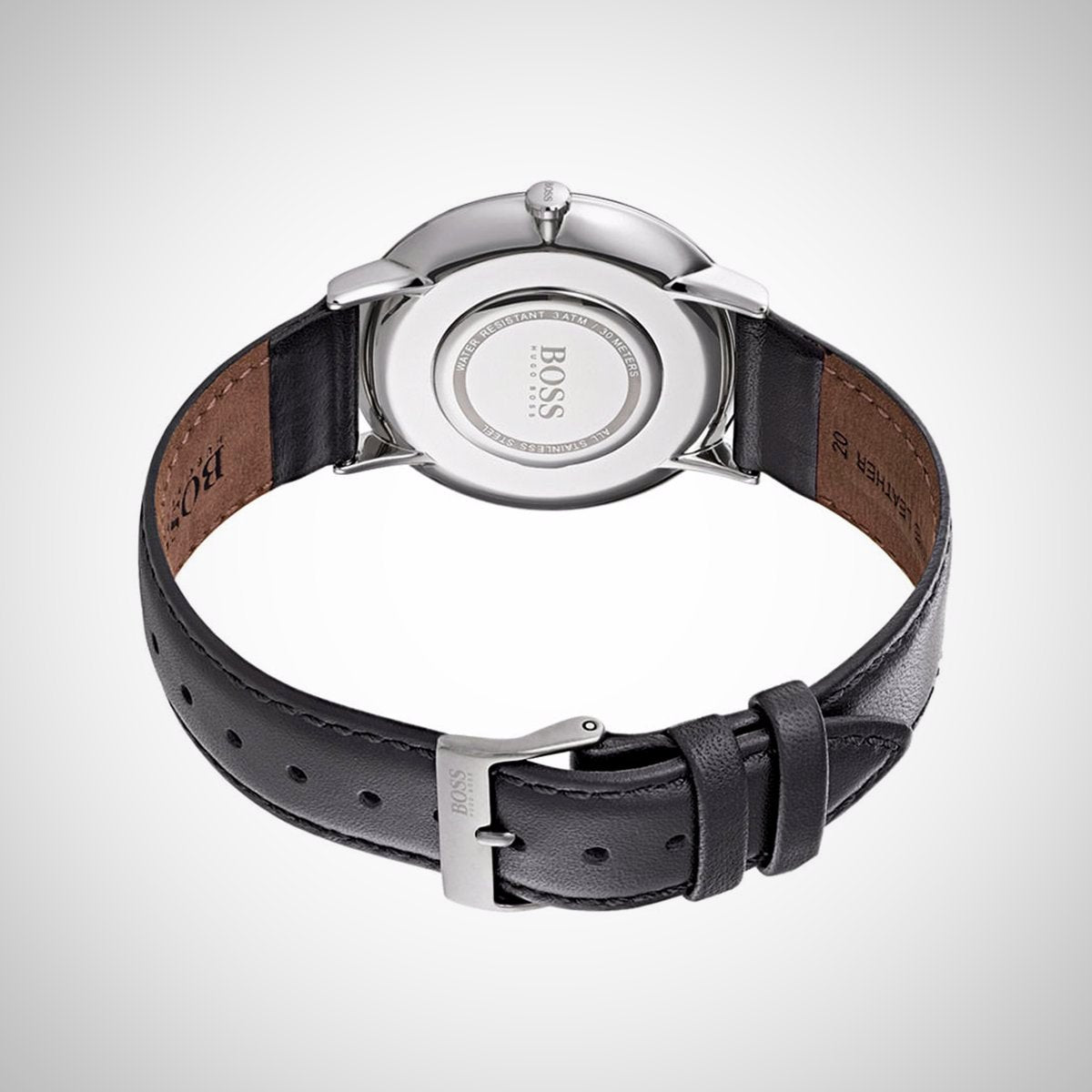 Hugo Boss 1513539 Grey Leather Men's Watch
