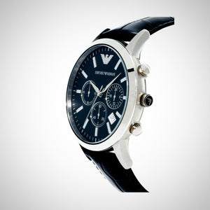 Emporio Armani AR2447 Mens Black Chronograph Watch