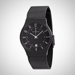 Skagen 233XLTMB Men's Black Mesh Strap Watch