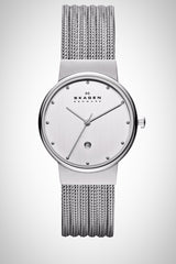 Skagen 355SSS1 Ladies Steel Collection Patterned Mesh Watch