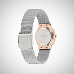 Skagen 358SRSC Women's  Silver Steel Strap & Case Mineral Freja Refined Watch