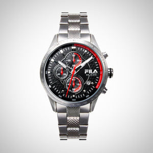 FILA 38-001-002 Men's Chronograph Silver Stainless Steel Quartz Watch