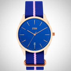 Storm 47299/RG/B Morley Ladies Blue/Rose Gold Watch