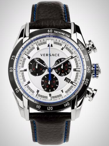 Versace VDB010014 V-Ray Men's Chronograph Silver Stainless Steel Case Quartz Watch
