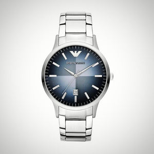 Emporio Armani AR2472 Blue Dial Stainless Steel Quartz Mens Watch