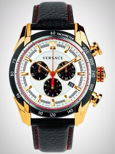 Versace VDB04 0014 V-Ray Men's Chronograph Gold-tone Stainless Steel Case Quartz Watch