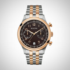 Bulova 98B248 Vintage Men's Classic Chronograph Stainless Steel Watch- RRP £ 359