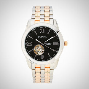 Bulova 98A144 Men's Automatic Two-Tone Silver & Rose Gold-tone Stainless Steel Quartz Watch