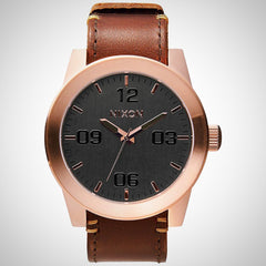 Nixon A243-2001 Men's Rugged Horween Leather Watch