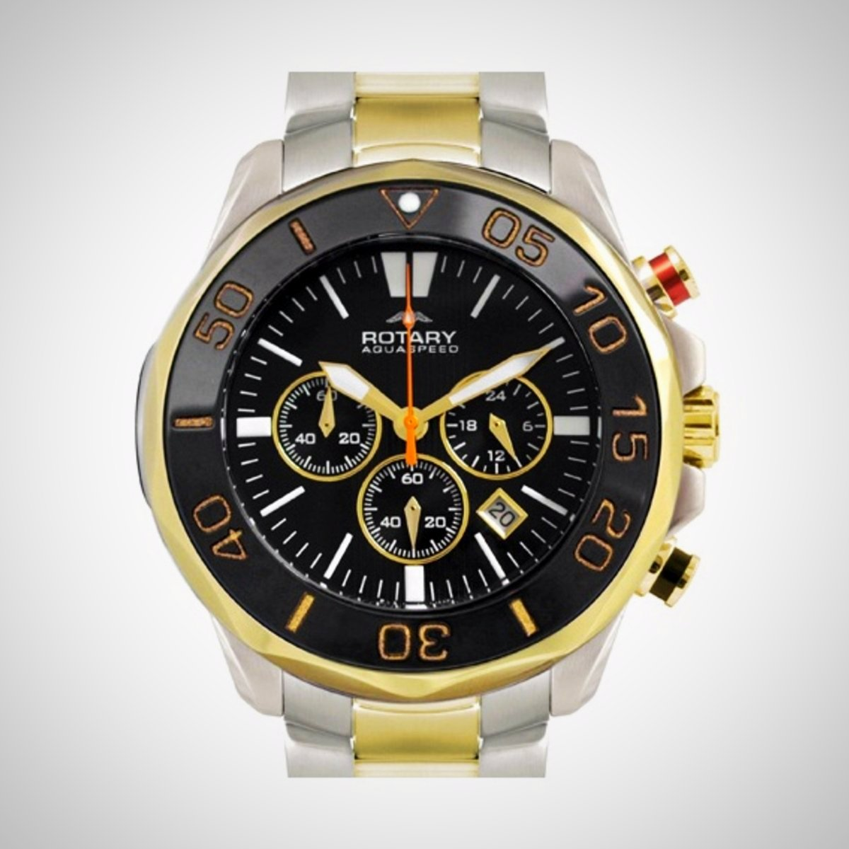 Rotary AGB00067/C/04 Men's Chronograph Two-tone Stainless Steel Watch