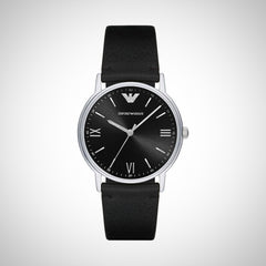 Emporio Armani AR11013 Dress Men's Black Leather Watch