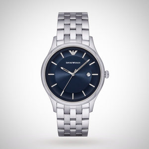 Emporio Armani AR11019 Men's Stainless Steel and Blue Dial Watch