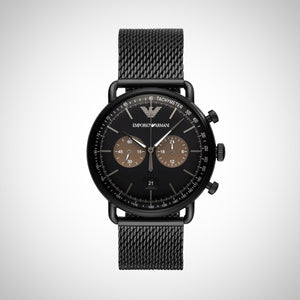 Emporio Armani AR11142 Mens Black Chronograph watch